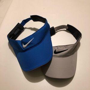 Lot of 2 Nike Visors